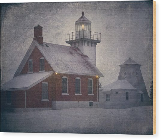 Sherwood Point Light Wood Print