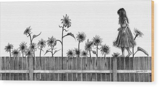 She's Walking On Sunshine Wood Print