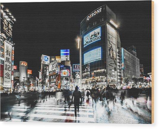 Shibuya Crossing Wood Print