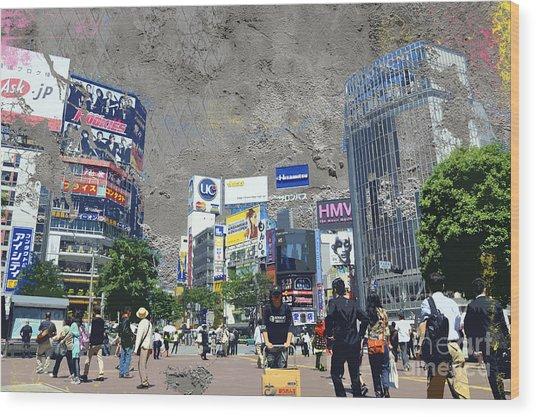 Shibuya Street Creation Wood Print