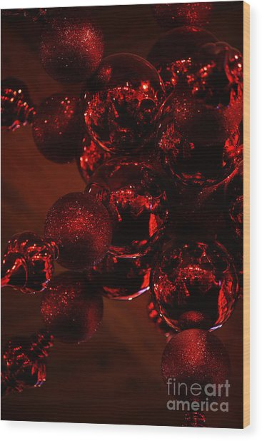 Shimmer In Red Wood Print