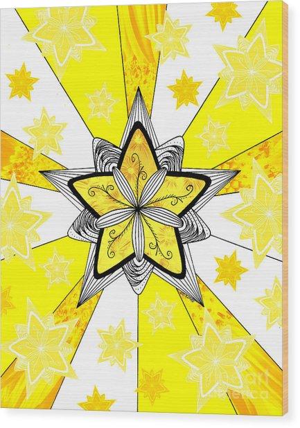 Shining Star Wood Print