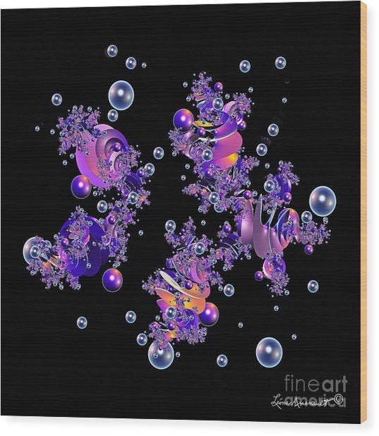 Shiny Bubbles Wood Print by Leona Arsenault