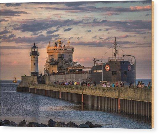 Ship Ahoy Wood Print