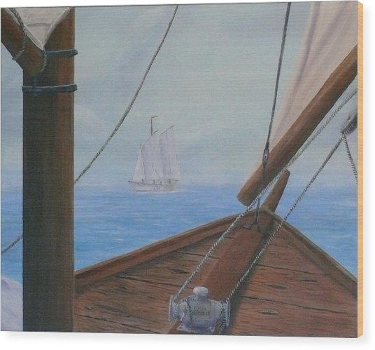 Ship Ahoy Wood Print