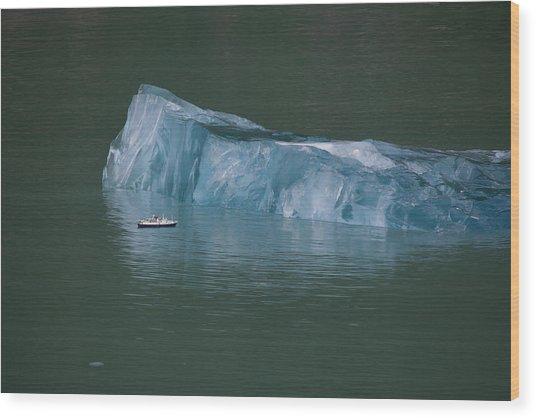 Ship And Iceberg Wood Print