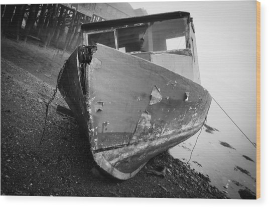 Ship Wrecked  Wood Print
