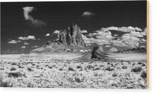 Shiprock Dyke Close-up Wood Print