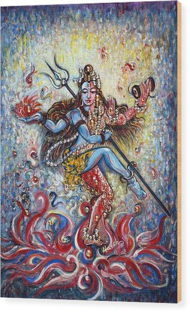 Shiv Shakti Wood Print