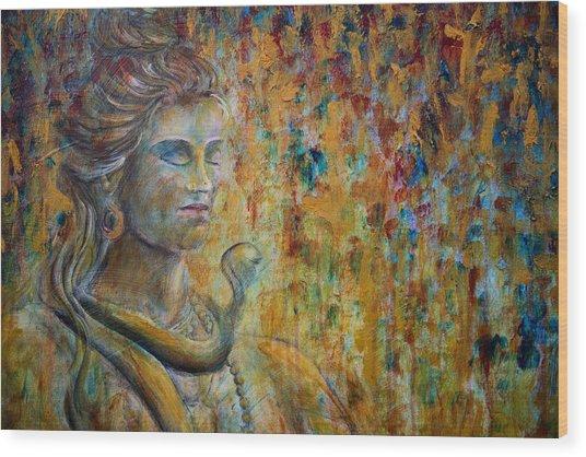 Shiva 2 - Close Wood Print