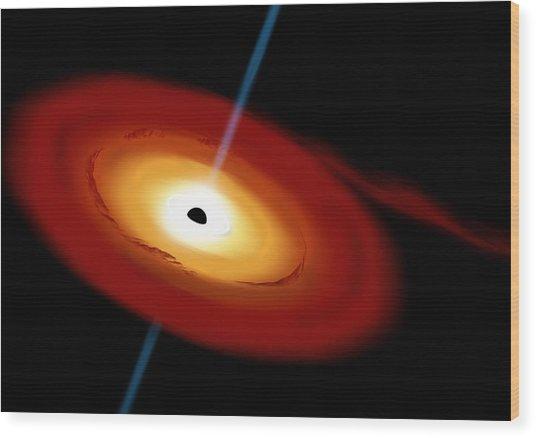 Black Hole 3b Wood Print