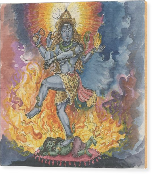 Shiva Nataraj Wood Print