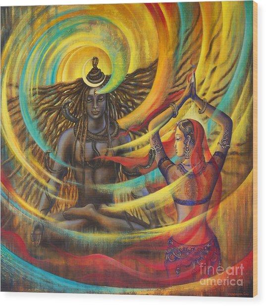 Shiva Shakti Wood Print