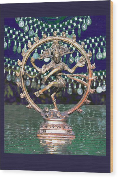 Shiva Upon The Water Wood Print