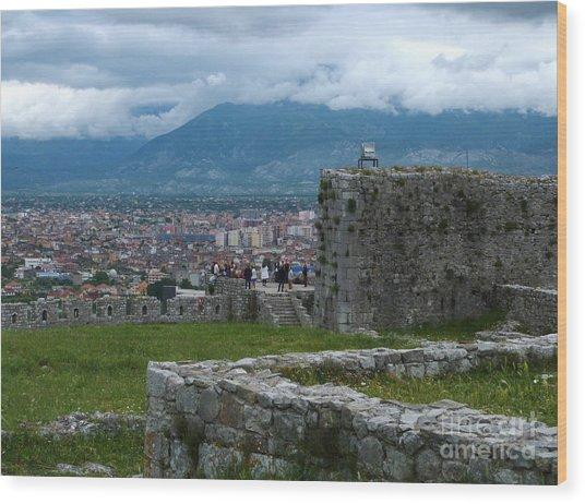 Shkoder From Rozafa Castle - Albania Wood Print