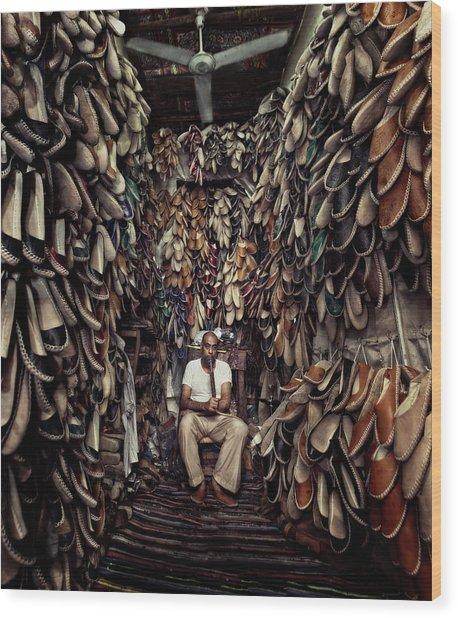 Shoes Maker Wood Print