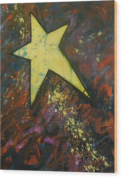 Shooting Star Wood Print