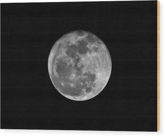 Shooting The Moon Wood Print