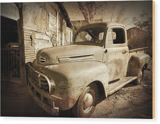 Shop Truck Wood Print