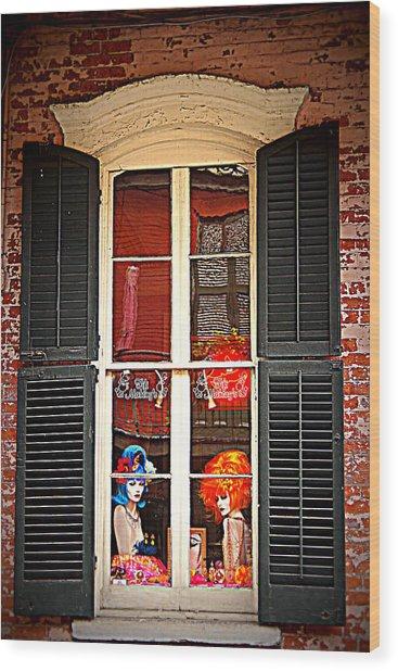 Shop Window Wood Print