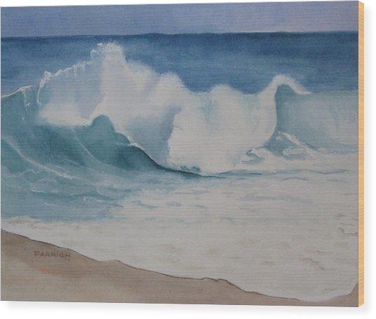 Shore Breaker Wood Print by Parrish Hirasaki