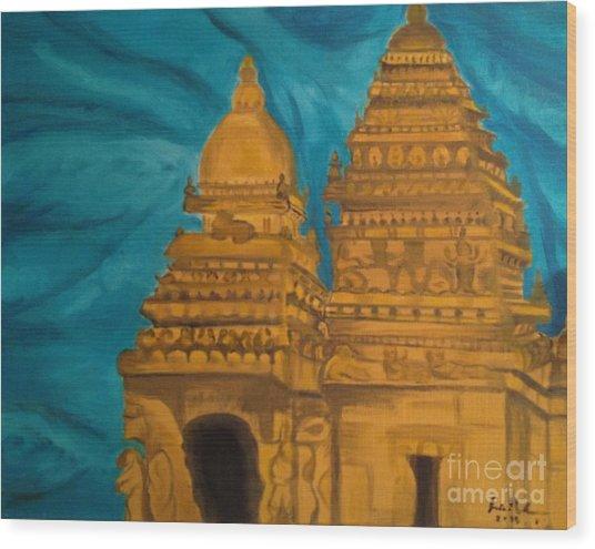 Shore Temple Wood Print