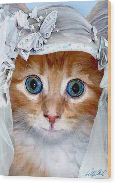 Shotgun Bride  Cats In Hats Wood Print