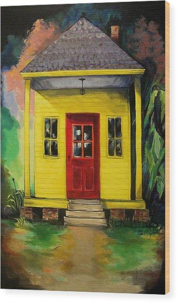 Shotgun House Wood Print