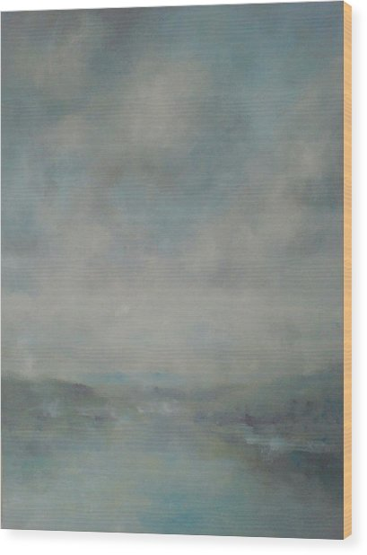 Shower Clouds Over The River Medina Wood Print by Alan Daysh