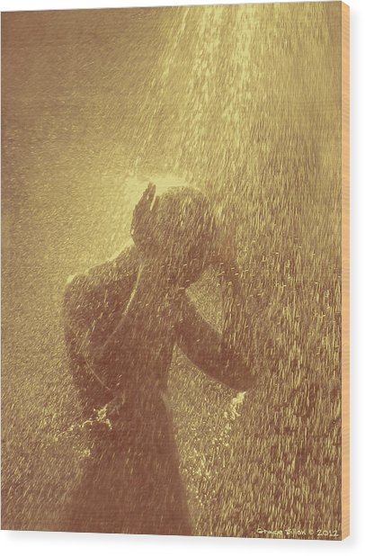Showers Of Blessings Wood Print