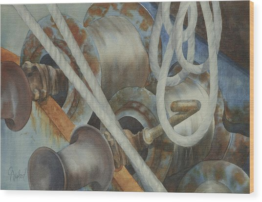 Shrimp Boat - Out Of Service Wood Print