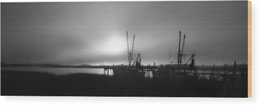 Shrimp Trawlers Wood Print