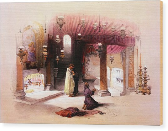 Shrine Of The Nativity Bethlehem April 6th 1839 Wood Print