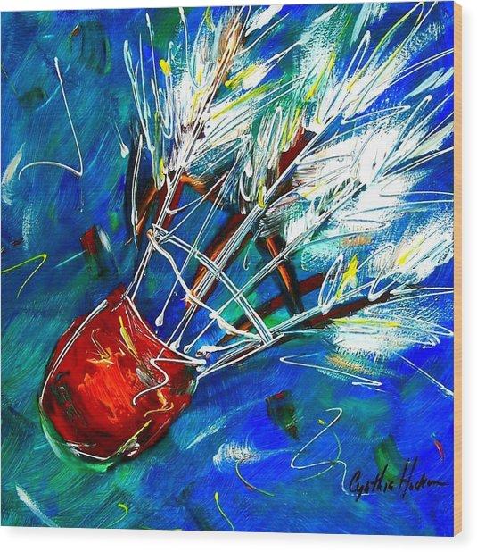 Shuttlecock Ll Wood Print by Cynthia Hudson