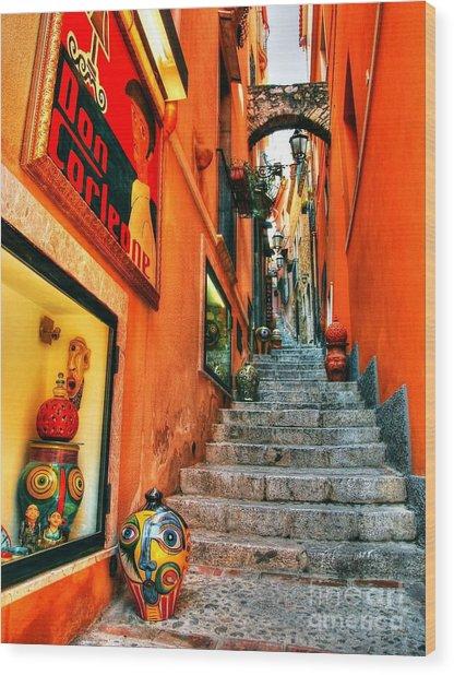 Sicilian Steps Wood Print