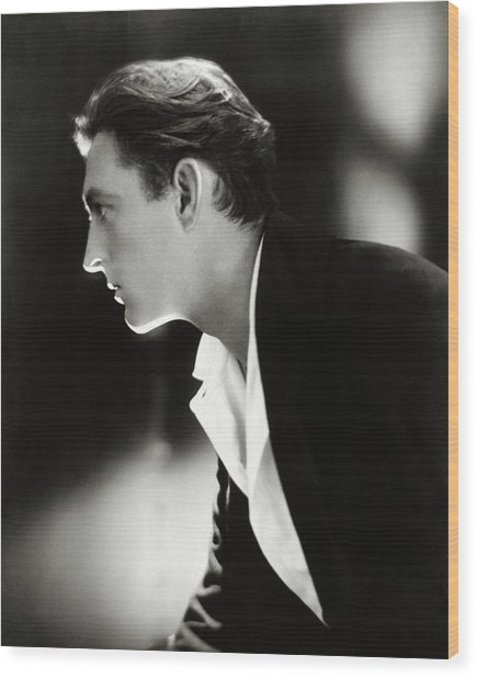 John Barrymore In Profile Wood Print