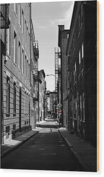 Side Street On The North End Wood Print