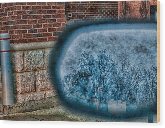 Sideview Mirror Wood Print