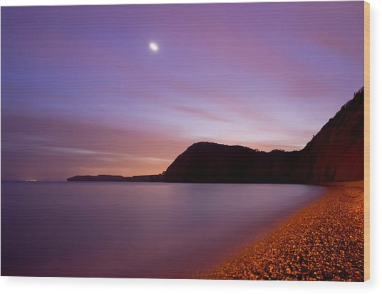 Sidmouth And Venus Wood Print