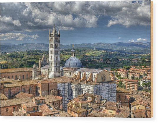 Siena Cathedral Wood Print