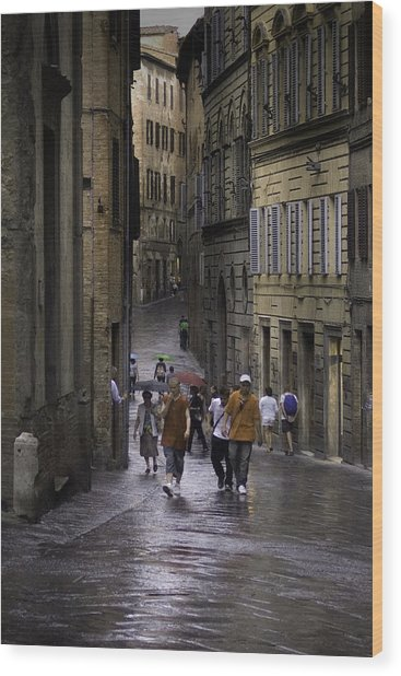 Siena Rain Wood Print