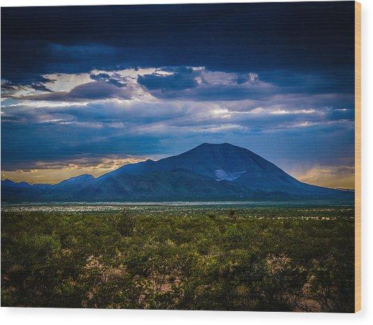 Sierra Blanca Wood Print
