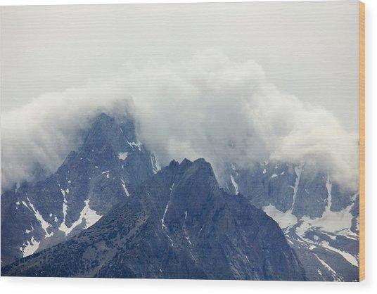 Sierra Clouds Wood Print