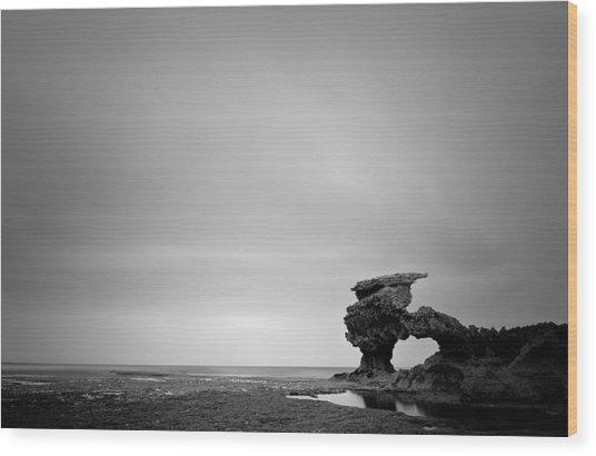 Sierra Nevada Rocks Wood Print