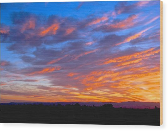 Sierra Nevada Sunrise Wood Print