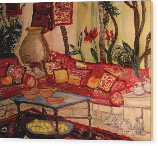 Sierra's Garden Room Wood Print