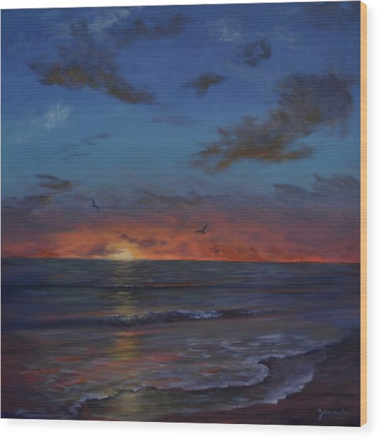 Siesta Key Sunset Wood Print