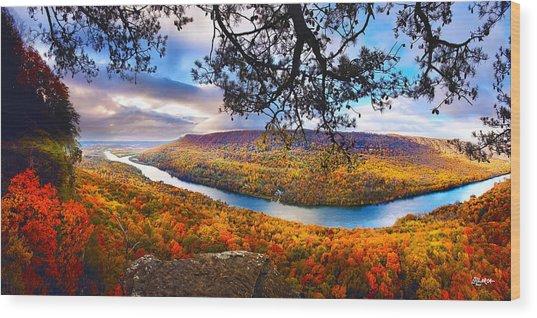 Signal Point At Fall Wood Print