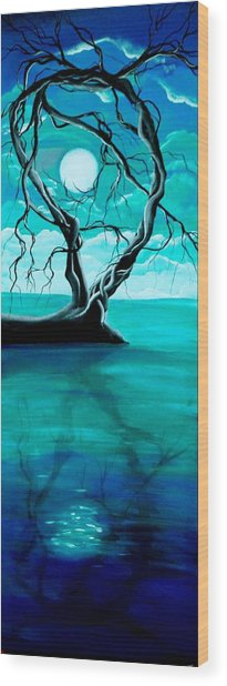 Silent Beauty Wood Print by Angie Phillips