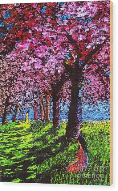 Contemporary Jesus Painting, Silent Communion Wood Print